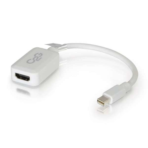 C2G 0.2m Mini DisplayPort M / HDMI F Blanco