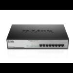 D-Link DGS-1008MP network switch Unmanaged Gigabit Ethernet (10/100/1000) Power over Ethernet (PoE) 1U Black