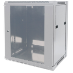 "Intellinet Network Cabinet - Wall Mount (Standard), 12U, 600mm Deep, Grey, Flatpack, Max 60kg, 19"", Three Year Warranty"