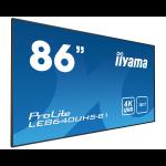 "iiyama LE8640UHS-B1 86"" LED 4K Ultra HD signage display"