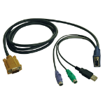 Tripp Lite USB/PS2 Combo Cable for NetDirector KVM Switches B020-U08/U16 and KVM B022-U16, 6-ft.