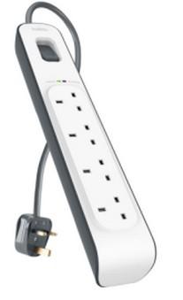 Belkin BSV400AF2M surge protector 4 AC outlet(s) 2 m White