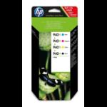 HP 940XL Origineel Zwart, Cyaan, Magenta, Geel Multipack 4 stuk(s)