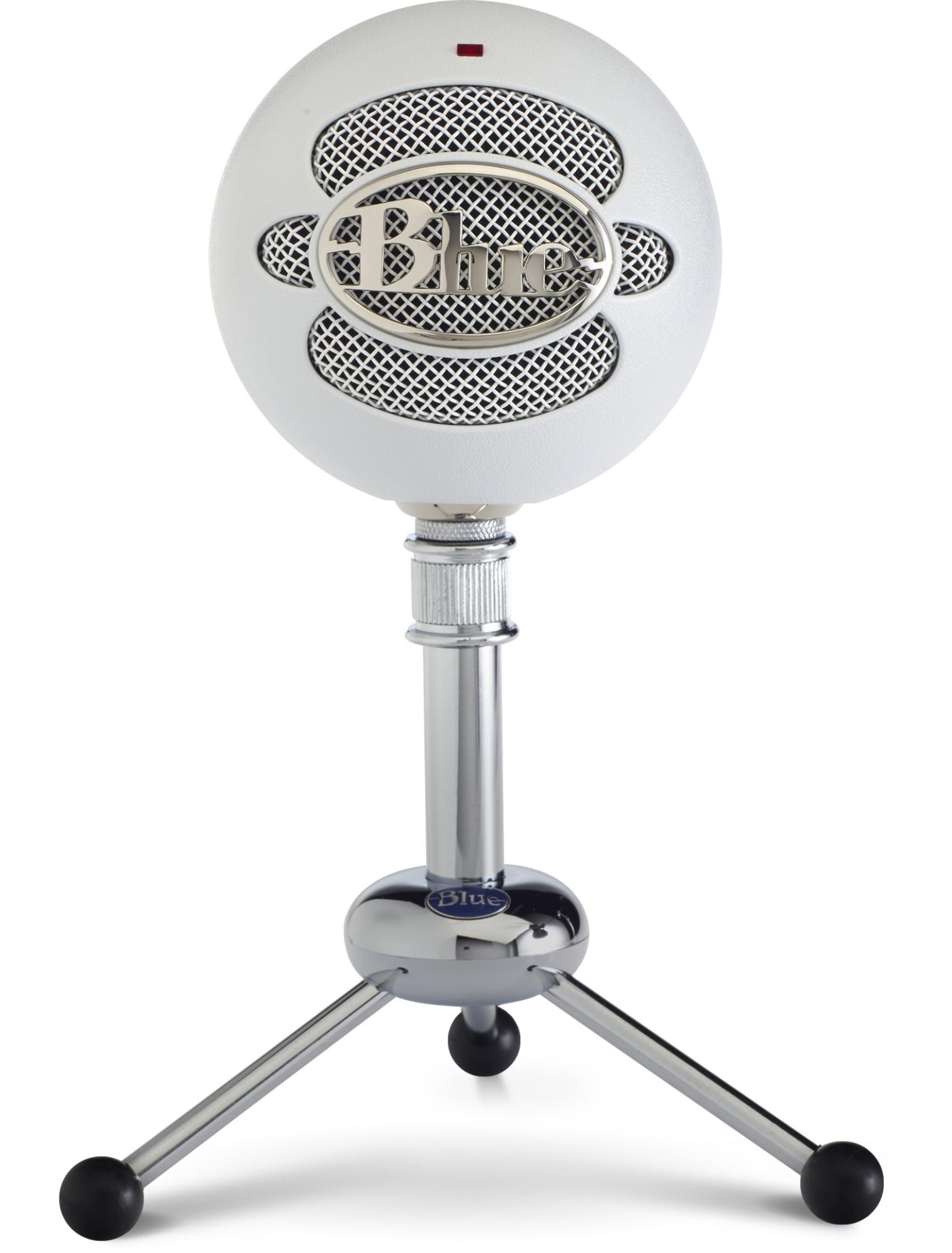 Blue Microphones Snowball Micrófono de superficie para mesa Blanco