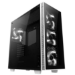 anidees AI Crystal White Full-Tower Black,White computer case