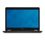 "DELL Latitude E7470 Notebook 35.6 cm (14"") 2560 x 1440 pixels Touchscreen 6th gen Intel® Core™ i5 8 GB DDR4-SDRAM 256 GB SSD Wi-Fi 5 (802.11ac) Windows 10 Pro Black"