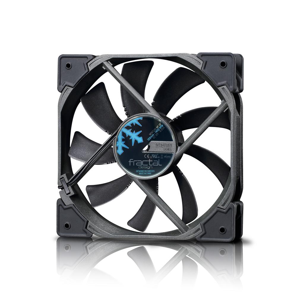 High Flow Vent Fan : Fractal design venturi hf fd fan vent bk