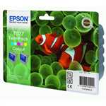 Epson C13T02740310 (T027) Ink cartridge color, 220 pages, 46ml, Pack qty 2