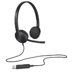 Logitech H340 Binaural Head-band Black