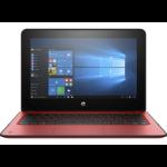 "HP ProBook x360 11 G1 EE Red Hybrid (2-in-1) 29.5 cm (11.6"") 1366 x 768 pixels Touchscreen 1.10 GHz Intel® Celeron® N3350"
