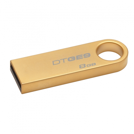 Kingston Technology DataTraveler GE9 8GB 8GB USB 2.0 Gold USB flash drive