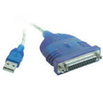 """C2G USB to DB25 IEEE-1284 Parallel Printer Adapter Cable 6ft printer cable 72"""" (1.83 m) Blue"""