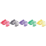 Intellinet RJ45 Repair Clip, For RJ45 modular plug, Mixed Transparent Colours (Red, Yellow, Green, Violet and Black), 50 pack