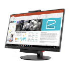 "Lenovo 10QXPAT1UK 23.8"" 1920 x 1080pixels Multi-touch Tabletop Black touch screen monitor"