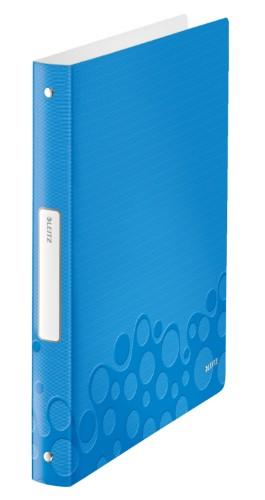 Leitz WOW ring binder A4 Blue,Metallic