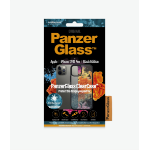 PanzerGlass Apple iPhone 12/12 Pro Black Frame Anti-Bacterial Black Frame (HoneyComb)