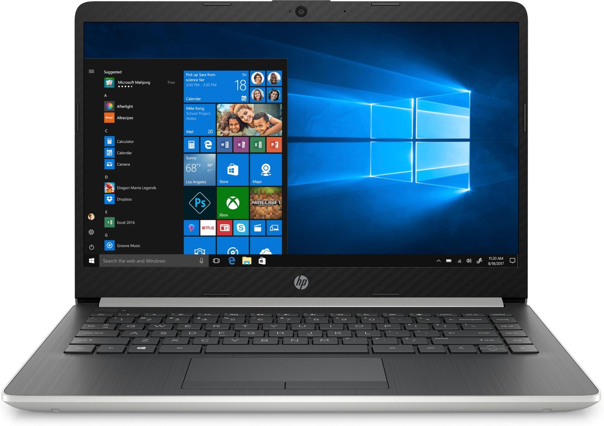 "HP 14-dk0017na Black,Silver Notebook 35.6 cm (14"") 1920 x 1080 pixels AMD Athlon 4 GB DDR4-SDRAM 128 GB SSD Windows 10 Home S"