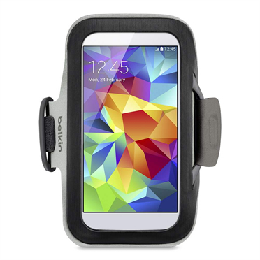 Belkin Slim-Fit mobile phone case Armband case Black