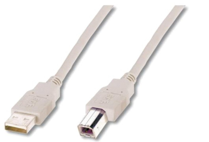 ASSMANN Electronic AK-300102-030-E cable USB 3 m 2.0 USB A USB B Beige