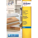 Avery Clear Address Label - Inkjet - J8565 Transparent