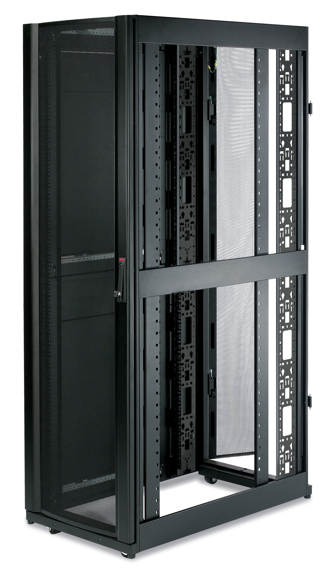 APC NetShelter SX 42U 600mm Wide x 1070mm Deep Enclosure with Sides Black Freestanding rack