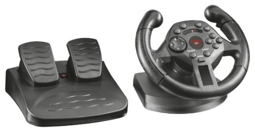 Trust GXT 570 Steering wheel + Pedals PC, Playstation 3 Black