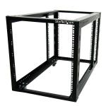 StarTech.com 4POSTRACK12A rack cabinet 12U Freestanding rack Black