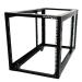 StarTech.com 4POSTRACK12A Freestanding rack 12U 270kg Black rack