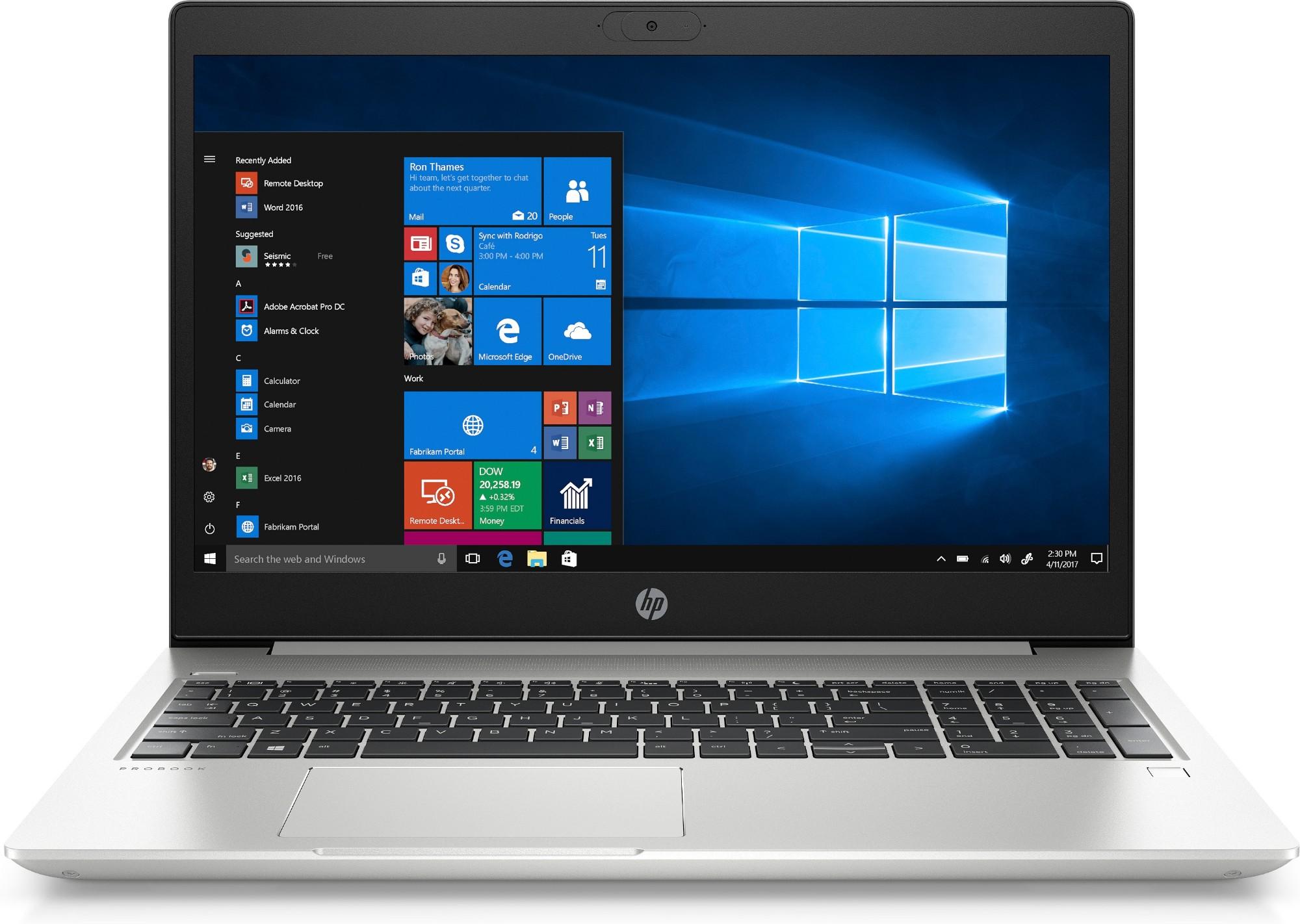"""HP ProBook 450 G7 Notebook 39.6 cm (15.6"""") Full HD 10th gen Intel-� Core��� i5 8 GB DDR4-SDRAM 256 GB SSD Wi-Fi 6 (802.11ax) Windows 10 Pro Silver"""