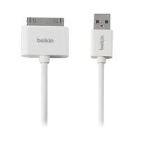 Belkin F2CU005BT3MWH mobile phone cable 30-pin USB 2.0 White 3 m
