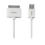Belkin F2CU005BT3MWH mobile phone cable White USB A Apple 30-pin 3 m