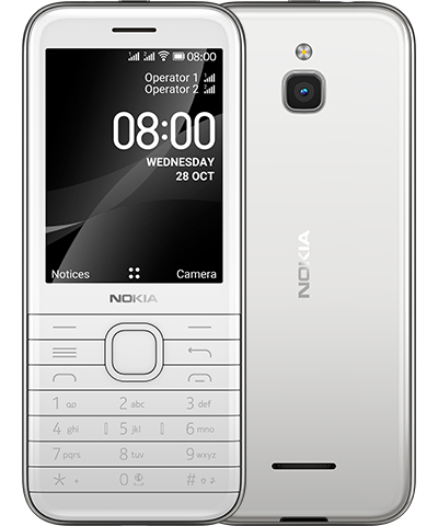 "Nokia 8000 4G 7.11 cm (2.8"") 110.2 g White Feature phone"