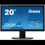 "iiyama ProLite E2083HSD-B1 LED display 49.5 cm (19.5"") 1600 x 900 pixels HD+ Black"