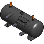 Flooded Receiver, 20L, 219mm diameter, 640mm length, PED with heater