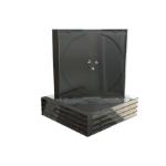 MediaRange BOX31 optical disc case Jewel case 1 discs Black, Transparent