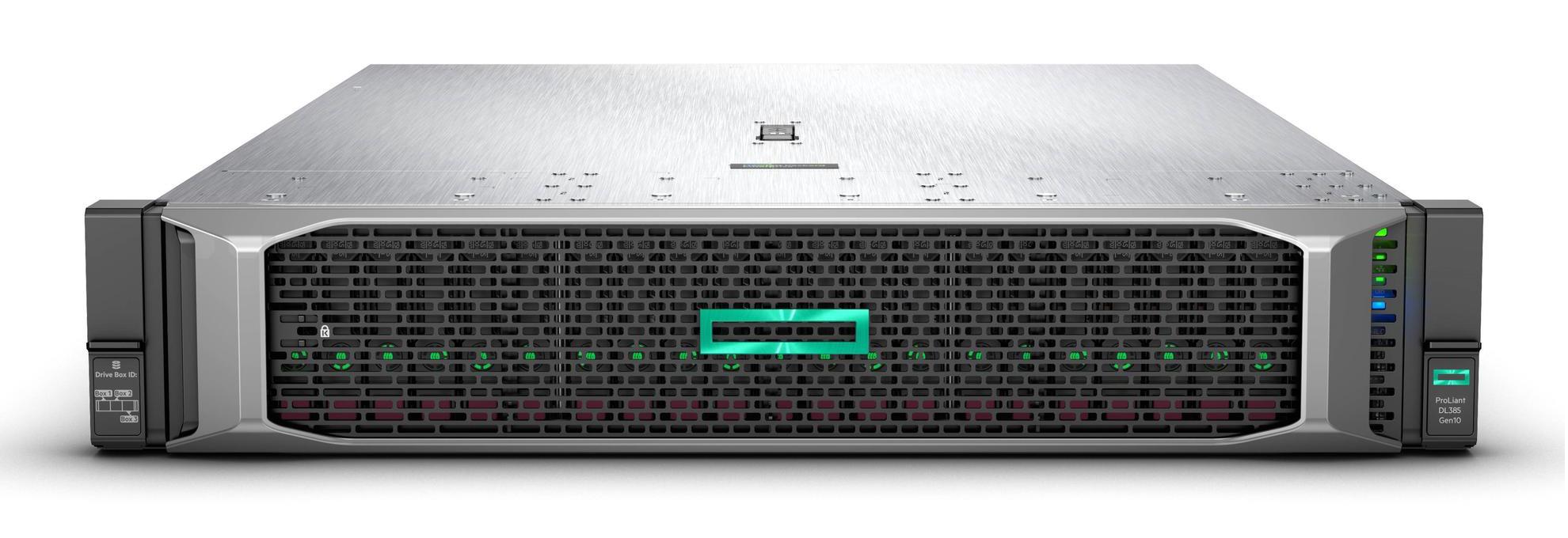 Hewlett Packard Enterprise ProLiant DL385 Gen10 server AMD EPYC 3 GHz 16 GB DDR4-SDRAM 72 TB Rack (2U) 800 W