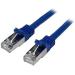 StarTech.com Cable de 50cm de Red Cat6 Ethernet Gigabit Blindado SFTP - Azul