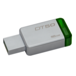 Kingston Technology DataTraveler 50 16GB 16GB USB 3.0 (3.1 Gen 1) Type-A Green,Silver USB flash drive