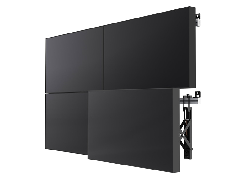 "SMS Smart Media Solutions Multi Display Wall + 60"" Aluminium, Black"