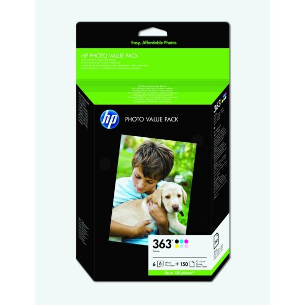 HP Q7966EE (363) Ink cartridge multi pack, Pack qty 6