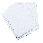 Rexel Crystalfile Crystal Printable Tab Inserts White (50)