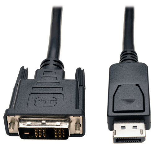 Tripp Lite Displayport to DVI Cable, Displayport with Latches to DVI-D Single Link Adapter (M/M), 3.05 m (10-ft.)
