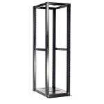 StarTech.com 4POSTRACKBK rack cabinet 42U Freestanding rack Black