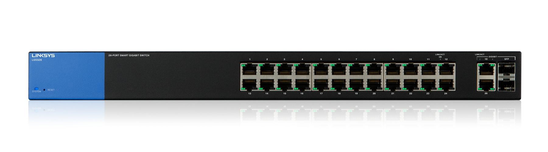 Linksys Smart Swtich Gigabit de 26 puertos (LGS326)