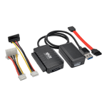 Tripp Lite USB 3.0 SuperSpeed to SATA/IDE Adapter with Built-In USB Cable, 2.5 in., 3.5 in. and 5.25 in. Hard Drives