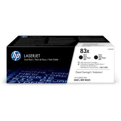 HP CF283XD (83X) Toner black, 2.2K pages, Pack qty 2