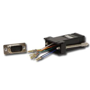 Lindy RJ-45 / 9-pin D Adapter RJ-45 FM 9-pin D M Black