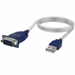 Sabrent CB-DB9P cable gender changer USB A RS-232 Blue, White
