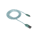 Canyon CNE-CFI3G mobile phone cable Green USB A Lightning 1 m