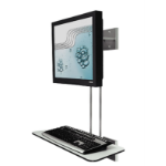 "R-Go Tools R-Go Hang Out Wall Mount, with display for mouse and keyboard, up to 27"", Max weight 10kg, adjustable, silver"